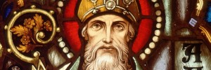 ST. AUGUSTINE OF HIPPO DEPICTED IN STAINED-GLASS WINDOW IN PHOENIX